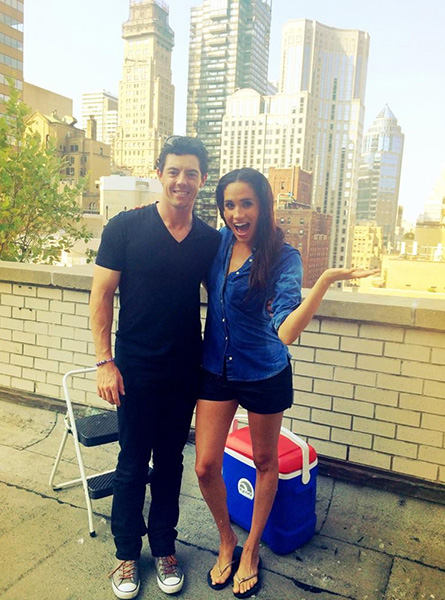 @McIlroyRory Awesome to help @meghanmarkle take on the #ALSIceBucketChallenge today!! Such a good sport!