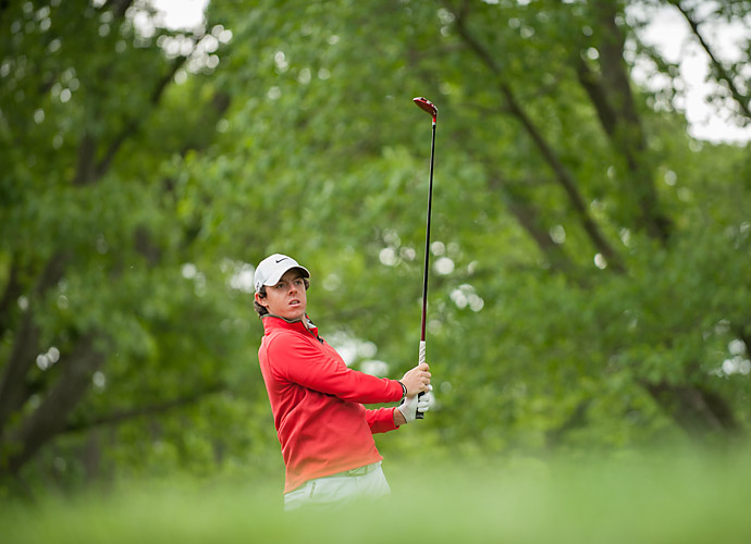 Defending PGA champion Rory McIlroy got to test out this year's host course last week.