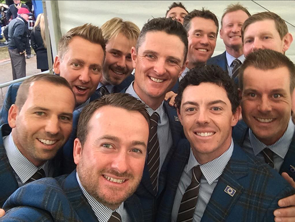 @McIlroyRory Pre opening ceremony selfie!! #EUROPE