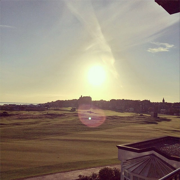@rorymcilroy Happy Birthday to my dad today! Can't wait to have a stroll around this place with you later #standrews #oldcourse