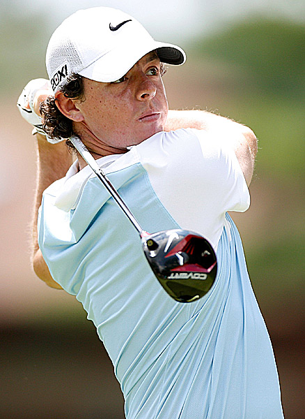 Rory McIlroy was even par on the day.