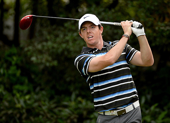 Rory McIlroy shot a 72 to fall into a tie for second.