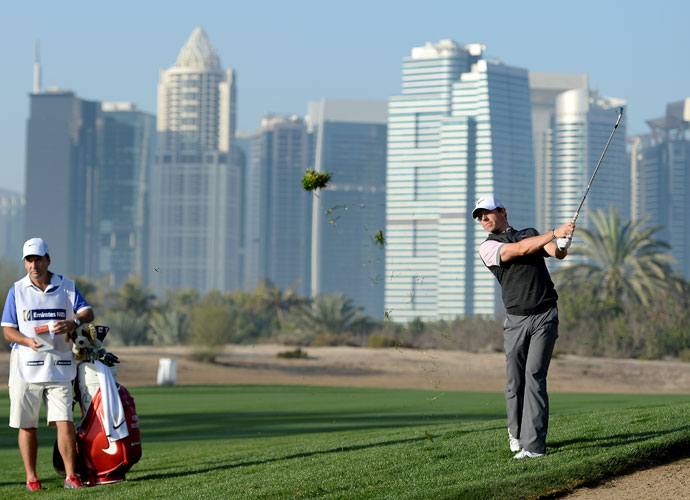 Rory McIlroy hits an approach to the 13th hole during the pro-am. McIlroy won the Desert Classic in 2009.