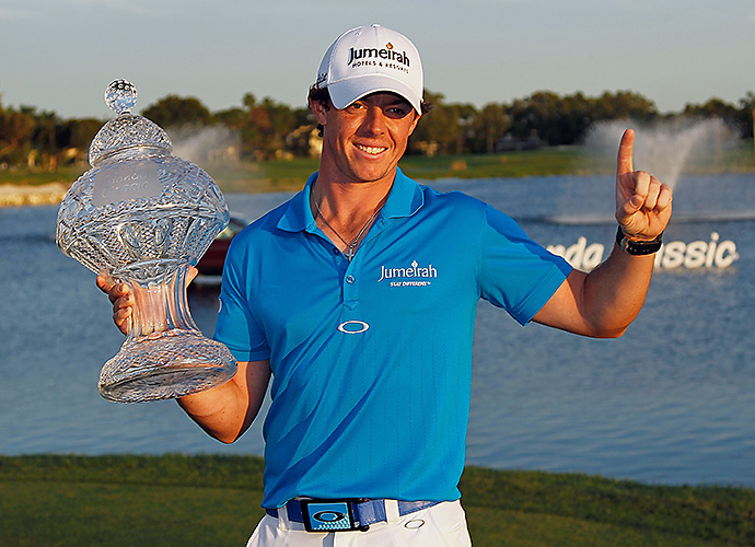 Rory McIlroy held off a late charge by Tiger Woods to win the Honda Classic in 2012 and claim the No. 1 spot in the Official World Golf Ranking.