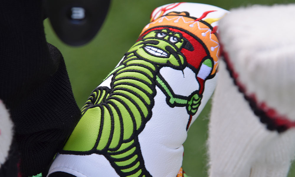 In Fort Worth, Texas, Rory Sabbatini's Scotty Cameron 'Worm Burner' putter headcover fits right in.