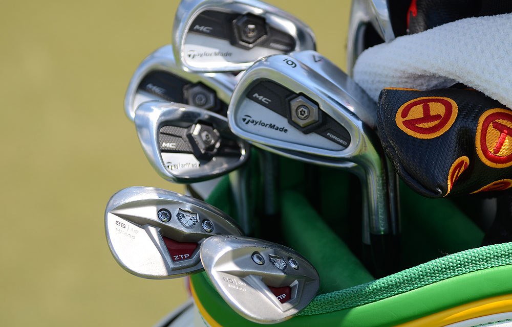 Rory Sabbatini will try to win the 2012 Players using these TaylorMade Tour Preferred Forged MC irons and TP w/xFT wedges.