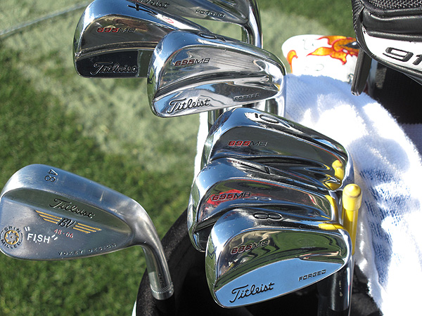 Ross Fisher's Titleist Forged 695 MB irons.