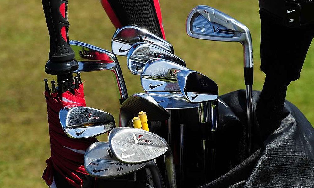 Ross Fisher is using a Nike VR_S Forged 3-iron and VR Pro Blade irons at Lytham.