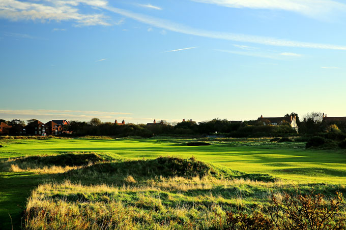 18. Royal Liverpool Golf Club -- No. 7, 480-yard Par-4                                                      Stroke Average: 4.367                            There was an absence of wind at Royal Liverpool this year for the British Open, so the course was more docile than usual. Yet the 480-yard, par-4 7th still grabbed a spot among the 18th toughest holes with a 4.367 average, thanks to a slender fairway bracketed by bunkers in the landing area and by gorse bushes on the right, often brought into play by the westerly winds.