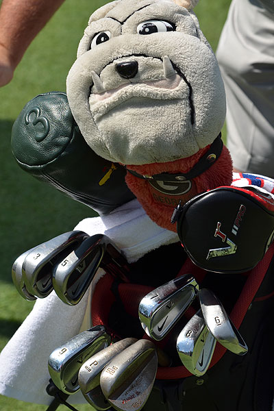 shows his Georgia pride. The Bulldog star also qualified for last season's U.S. Open at Pebble Beach.