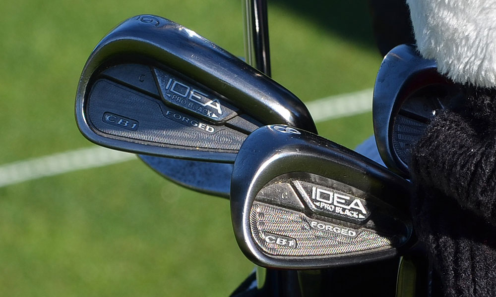 Ryan Moore is playing a set of Adams Idea Pro Black CB1 irons.