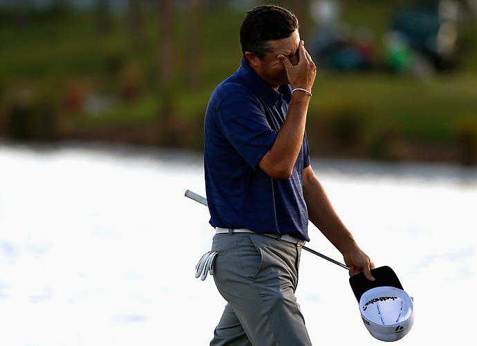 Ryan Palmer missed a birdie putt in regulation that would have won the tournament.