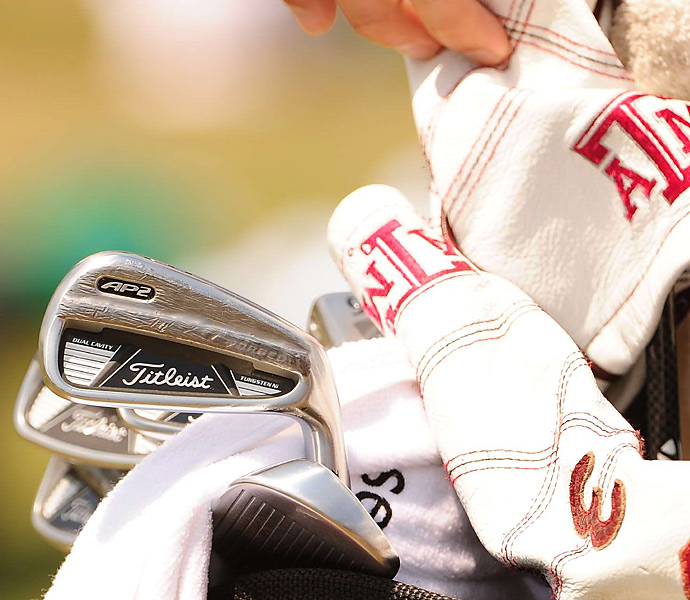 A few of Ryan Palmer's Titleist AP2 irons also have lead tape.