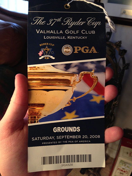 The 2008 Ryder Cup at Valhalla was a rare occasion -- a U.S. win! Oddly enough, due to my editorial emphasis on travel, I was asked to be a guest that week of Tourism Ireland. How strange to be treated to wonderful Euro hospitality, then root for the other team.