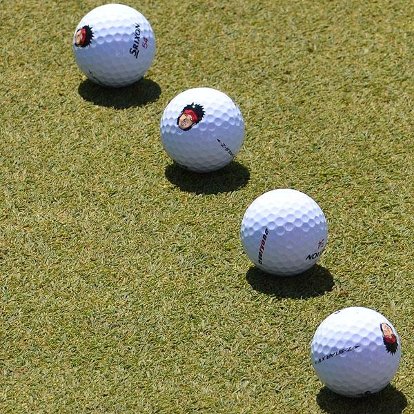 Ryo Ishikawa has his image on all of his Srixon Z-Star X golf balls.