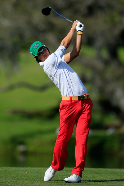 Japan's Ryo Ishikawa, who uses Bay Hill as his East Coast home course, birdied 18 to get to 65, tied for second, three strokes off the lead.