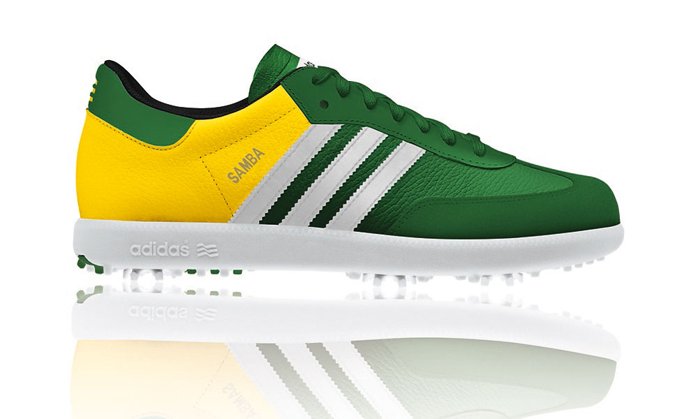 Masters-style clothes, shoes, and socks you can buy without a trip to Augusta National.                       Masters edition Samba shoe from Adidas, based on the classic soccer and street shoe design created in 1950. Shoes are individually numbered, only 1950 pairs available. Available at golfsmith.com ($120).