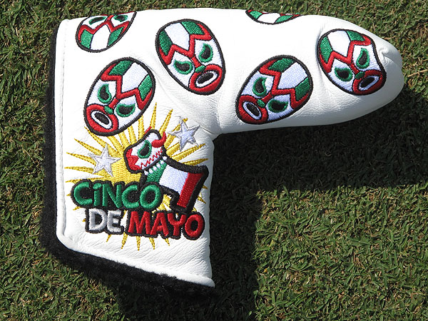 got a special Cinco de Mayo themed Scotty Cameron putter headcover last week.Josh Teater got a special Cinco de Mayo themed Scotty Cameron putter headcover last week.