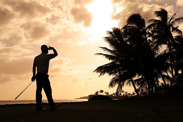 As the sun set on Waialae, Rory Sabbatini finished three shots behind Choi in second place.