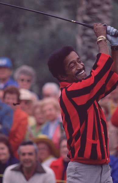 A regular at the Bob Hope Desert Classic, the late Sammy Davis Jr. hosted the Greater Hartford Open, known today as the Travelers Championship, from 1973-1988.