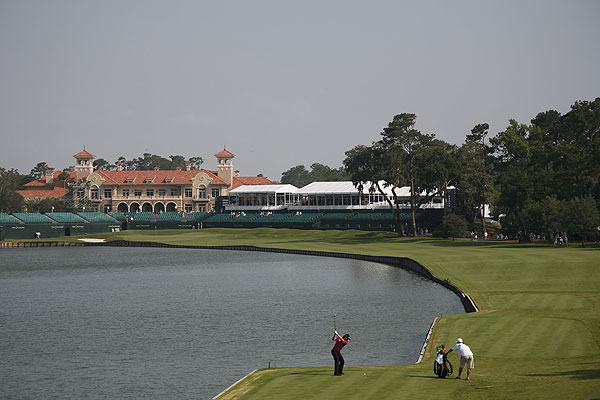 3. TPC Sawgrass (Stadium Course)                           Ponte Vedra Beach, Fla.                           447 yards, par 4                           904-273-3230, tpcsawgrass.com                           $240-$350                           Architect: Pete Dye                           If you were expecting a breather after the island horror at the 17th, think again. Pars are rare commodities, and birdies unthinkable on this banana-shaped two-shotter that drowns any pulled drive or approach. It also punishes overly conservative bailouts with menace from trees, spectator mounds and rough-filled grass bunkers.