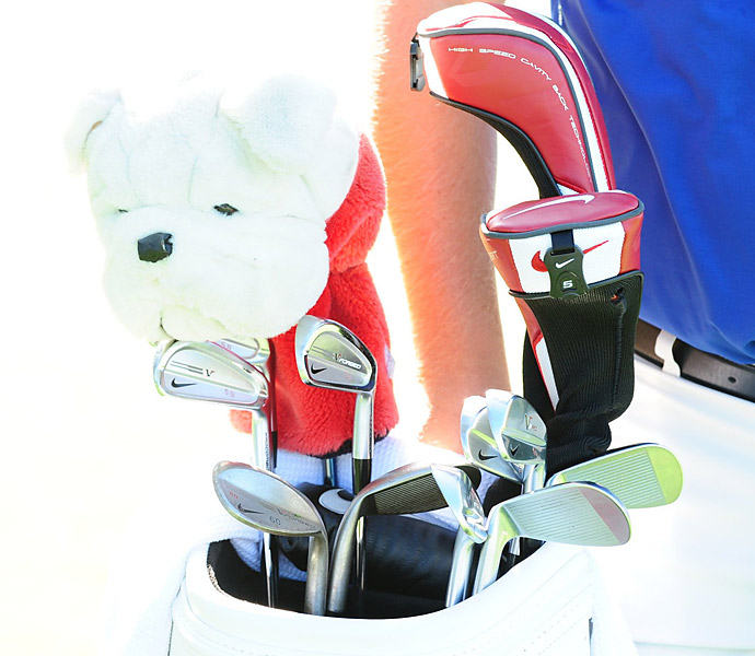 Scott Brown, who won last year's Puerto Rico Open, has a bulldog headcover guarding his driver.