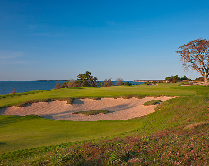 The 18th hole at Sebonack Golf Club.