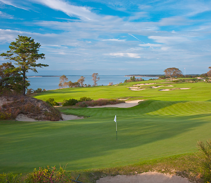 Sebonack was designed by Jack Nicklaus and Tom Doak in 2006. (Pictured: 2nd Hole).