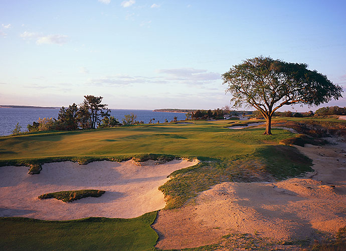 49. Sebonack Golf Club, Southampton, N.Y., No. 18, par-5: The remarkable 2006 design collaboration between Jack Nicklaus and Tom Doak yielded a bevy of world-class holes that beguiled competitors at the 2013 U.S. Women's Open. The long and winding closer that hugs the shoreline of Peconic Bay is an instant classic.