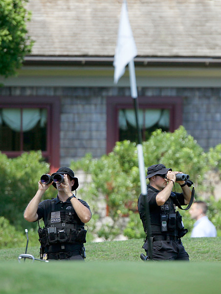 The Secret Service goes to great lengths to protect the Commander in Chief when he hits the links.
