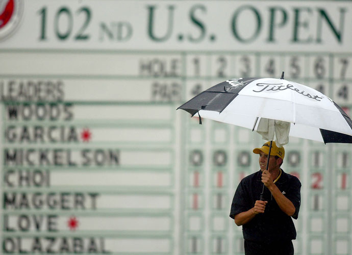 The skies wept and Garcia wasn't happy either, saying that play should have been suspended due to torrential downpours during the second round of the U.S. Open at Bethpage Black. Officials would have halted play, Sergio suggested, had Tiger been on the course.