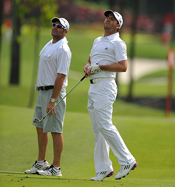 Sergio Garcia is tied for fifth after a 68.