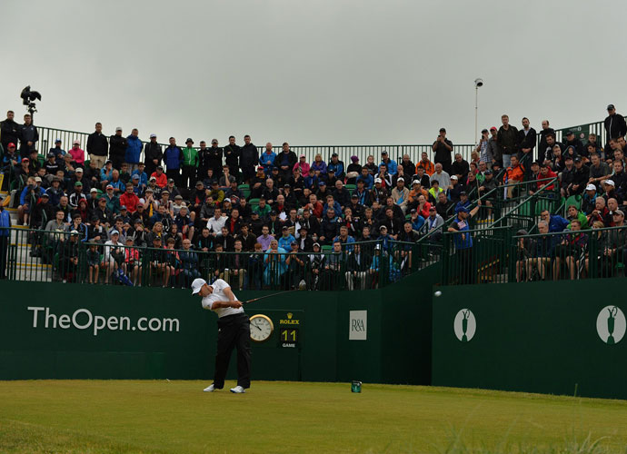 Sergio Garcia carded a solid 3-under 69 to stay in third place, seven shots off the lead.