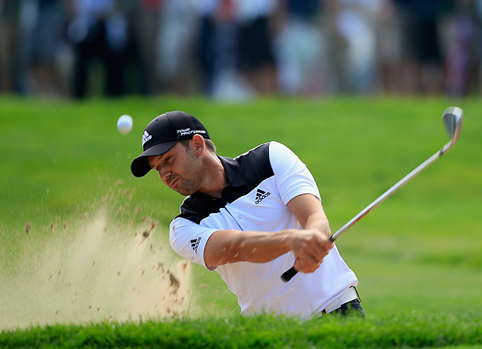 A two-over 72 saw Sergio Garcia lose the lead.