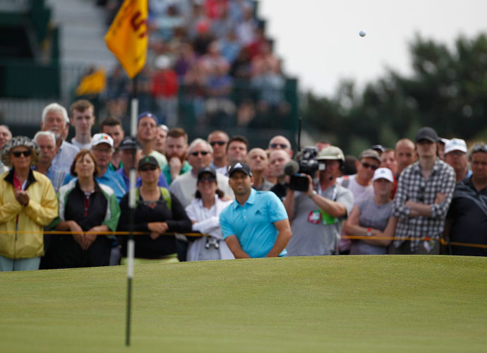 Sergio Garcia also finished runner-up to Padraig Harrington in the 2007 Open at Carnoustie.