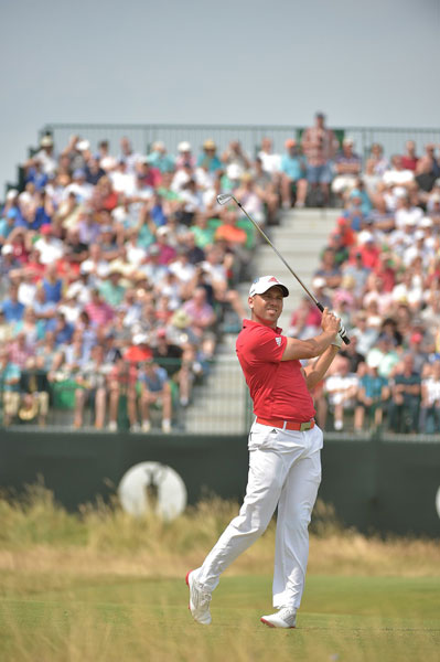 Sergio Garcia shot 70 and was in the group tied for third at -6, six shots off the lead.