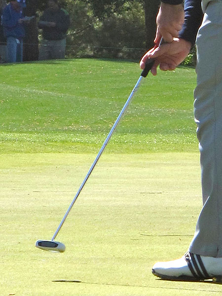 Sergio Garcia is going with a center-shafted TaylorMade Rossa Corza Ghost putter at Augusta and a Claw grip.
