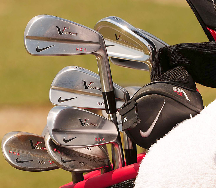 A few Nike VR Pro Combo irons compliment the VR Pro Blades in Seung-Yul Noh's bag.