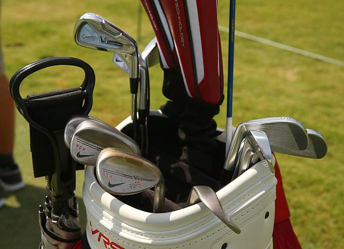 Seung-Yul Noh won the Zurich Classic in April. He's got custom-stamped Nike VR Forged wedges in his bag.