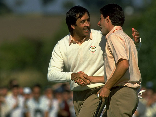 "The ""Spanish Armada""—Ballesteros and Jose Maria Olazabal—was almost unbeatable in the Ryder Cup for a decade."