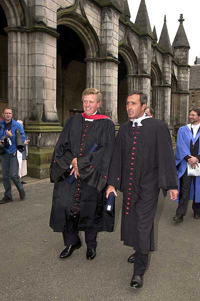 Ballesteros and Colin Montgomerie received honorary degrees from St. Andrews University in 2000.