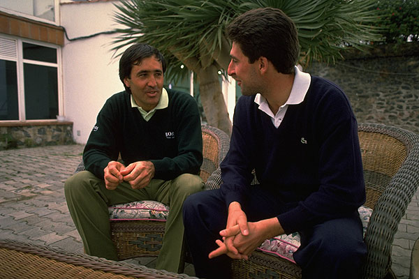 Ballesteros and Olazabal were not only a powerhouse team on the golf course, they became close friends off it.