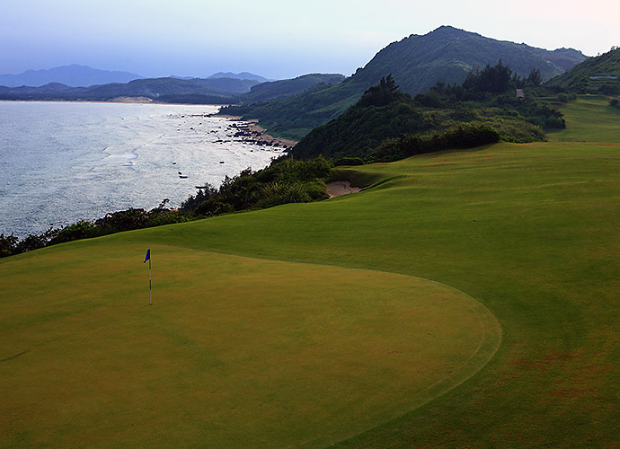 DESIGN NERD MOMENT OF THE YEAR: A tie: playing Shanqin Bay on Hainan Island, China (pictured), with its designer, Bill Coore, and tackling Streamsong (Blue) in Florida with its creator, Tom Doak. Every time I think I know something about architecture, these two remind me that I'm just scratching the surface.