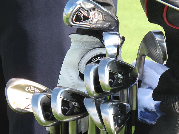 won the 2003 PGA Championship at Oak Hill and is using these Callaway clubs at Whistling Straits.