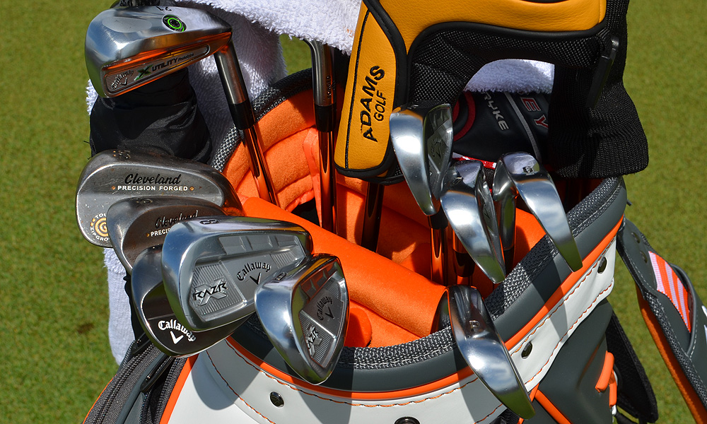 Shaun Micheel, winner of the 2003 PGA Championship, is using Callaway RAZR X Forged irons.
