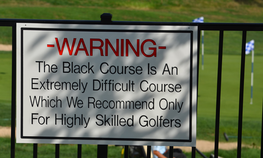 If you're going to take on a course that comes with a warning sign, you'd better have a bag full of high-tech, custom-fitted clubs. Here's what the pros are using this week at the Barclays Championship at Bethpage Black.
