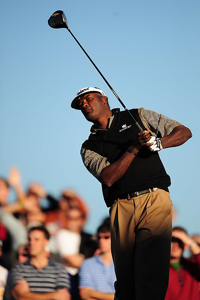 9. Vijay Singh — Cleveland HiBore XL (9.5°)                           Average driving distance: 292 yards                            Percentage of fairways hit: 58.97%