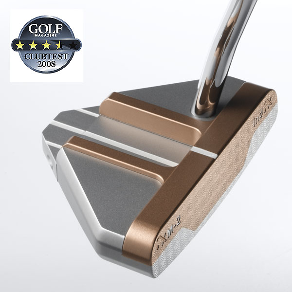 "Sizemore XM-2                            $349, steel                            sizemoregolf.com                                                       We tested: 34"" and 35"" in steel shaft                                                      Company line: ""The triangular-shaped aluminum head has pronounced copper rail sightlines. A set of center alignment inserts can be customized to accommodate a player's alignment preferences, while interchangeable end caps let you optimize your speed and distance control.""                                                       Our Test Panel Says:                            PROS: There are alignment aids galore, and the large head and broad sightlines make lining up your putt a snap; provides a distinct, firm feel on contact; head-heavy sensation and stability of the face contribute to a smooth stroke; no need to worry about getting it to the hole — putts roll out farther than the rest.                                                       CONS: Visually speaking, there's way too much going on with this copper- and silver-colored triangular head; liable to blow putts past the hole; would like more help when putts stray from their line.                                                       ""Given all the alignment lines, it might make sense to be fit for lie angle."" — Jeff Bones (9)"