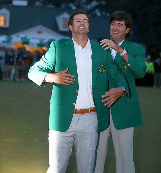 BEST PHOTO FINISH                       With rain falling on Augusta in the gloaming, Adam Scott's green-jacket-clad celebration was the year's most atmospheric (and photo-friendly) moment.