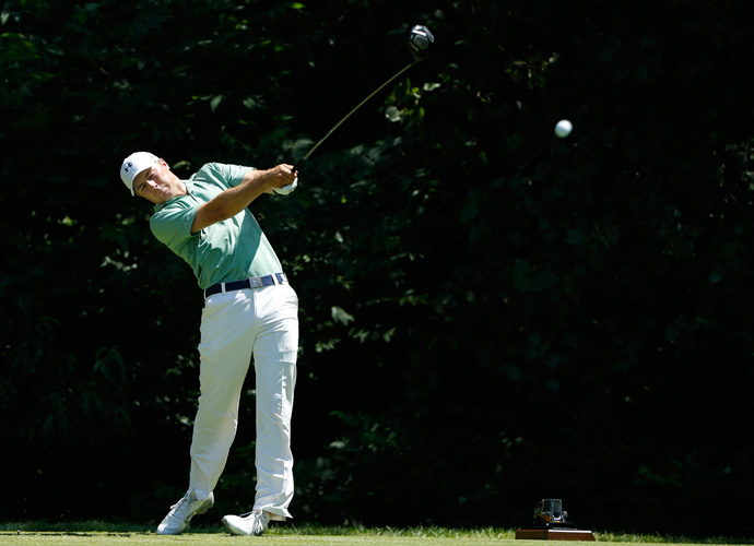 Defending champion Jordan Spieth finished strong, carding 67-66 on the weekend to move into a tie for seventh place.